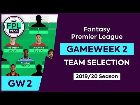 GW2: FPL TEAM SELECTION | Gameweek 2 | Fantasy Premier League Tips 2019/20