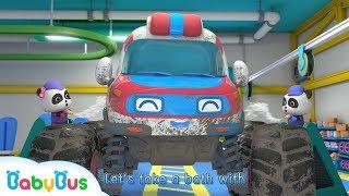 Monster Ambulance Got Injured   Monster Car Race   Baby Panda Mechanic   BabyBus