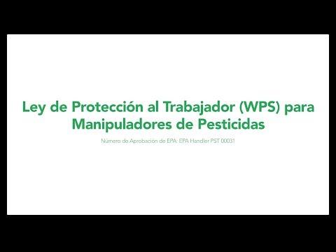 Ley de Protección al Trabajador (WPS) para Manipuladores de Pesticidas (subtítulos)