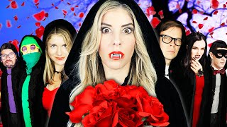 Giant VAMPIRE Ceremony at Hacker Mansion - Spending 24 Hours Facing Biggest Fears Vs Rebecca Zamolo