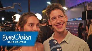 ESC 2019: Zala Kralj & Gašper Šantl Aus Slowenien Auf Dem Orange Carpet   Eurovision Song Contest  