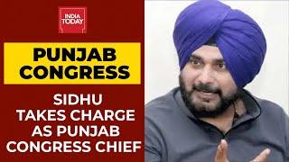 Punjab Politics: Navjot Singh Sidhu's Taj Poshi As PCC Chief, Addresses Crowd With Fiery Speech