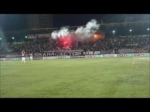 """""""RECIBIMIENTO GRANADICTOS 24   Carabobo FC vs Monagas SC   Semifinal Apertura17"""" Barra: Granadictos • Club: Carabobo"""