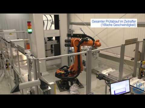 Automatischer Zugversuch an Stahlproben