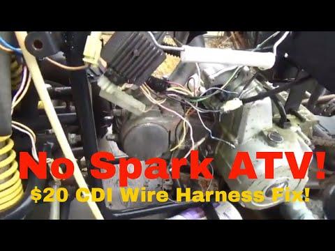 Troubleshooting No Spark Honda ATC200, restoring the OEM CDI