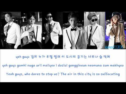 B.A.P - Badman [Hangul/Romanization/English] Color & Picture Coded HD