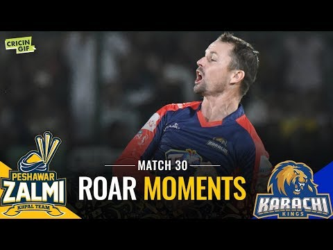 PSL 2019 Match 30: Peshawar Zalmi vs Karachi Kings | Roar Moments