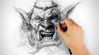 Orc Drawing - Timelapse