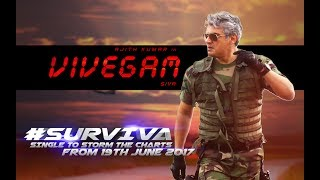 Vivegam - Surviva Song Teaser | Ajith Kumar | Anirudh Ravichander | Siva