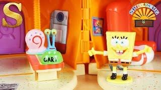 ZUHAUSE bei SPONGEBOB Schwammkopf in der Ananas Haus Spielzeug Spielset Figuren Licht Sound deutsch