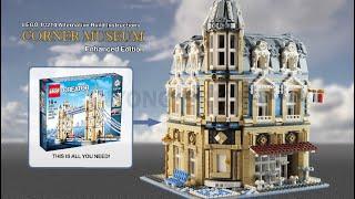"""LEGO Tower Bridge Alternative Build """"Corner Museum"""""""