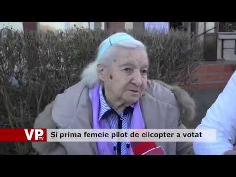 Și prima femeie pilot de elicopter a votat