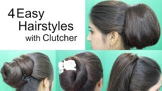 Download Youtube: 4 Awesome Hairstyles by using Clutcher | Hairstyles for medium or long hair