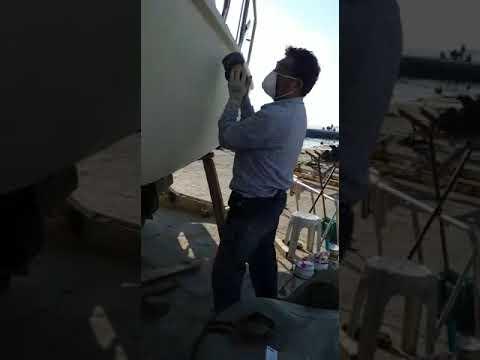 Tekne Boyama Epoksi Macun Zımpara Yapılması