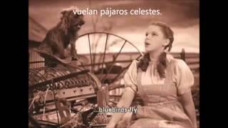JUDY GARLAND OVER THE RAINBOW SUB INGLÉS Y ESPAÑOL