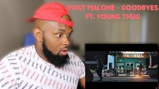 Post Malone   Goodbyes Ft. Young Thug   REACTION