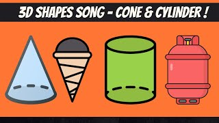 3-d shapes – Cone and Cylinder | Math | Grade-1,2 | TutWay |