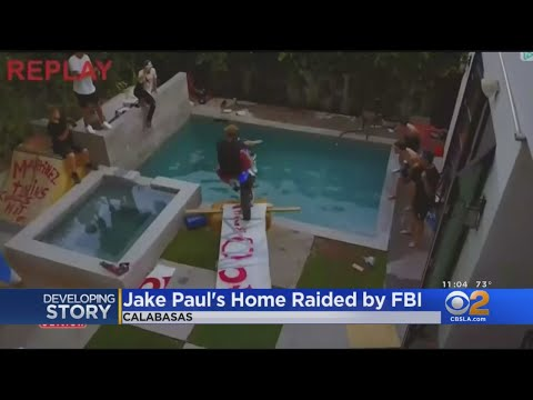 FBI Raids Calabasas Home Of YouTube Star Jake Paul