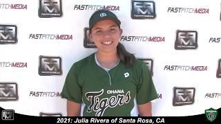 2021 Julia Rivera Catcher Softball Skills Video