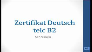 Telc B2 Brief Schreiben Bitte Um Informationen 1 самые