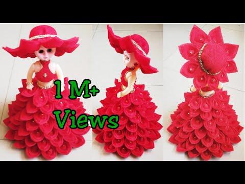 DIY Doll Decoration Using Foam Sheets/Doll Dress Making/Best Use of Foam Sheets & Dolls/Doll Decor