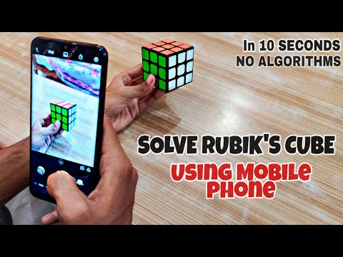 How To SOLVE RUBIK'S CUBE using Mobile Phone