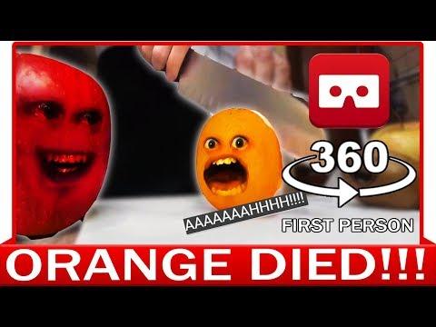 360° VR VIDEO - Funny Annoying Orange Finally Knifed! Dead Parody   VIRTUAL REALITY