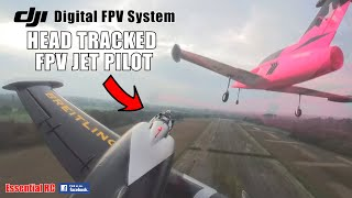 RC JET PILOTING FROM THE COCKPIT !!! DJI FPV PILOT 'GUI' GOES TOP GUN