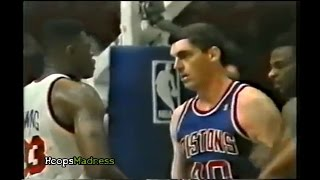 Bill Laimbeer vs Patrick Ewing! 1990 Playoffs