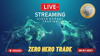 8 July Zero Trade | Bank nifty live trading | Call Put | Best Trading Setup | Live option trading