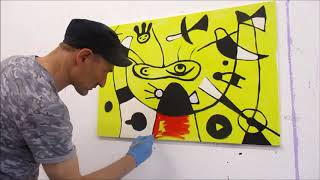 Malen nach Miró (How to paint like Miró) Live Painting