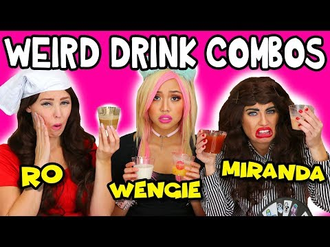 Weird Drink Combinations in Pour Taste Game – Miranda vs Wengie vs Rosanna? Totally TV