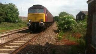 preview picture of video 'The Devonian 6024 King Edward I & 57601 at Stoke Canon'