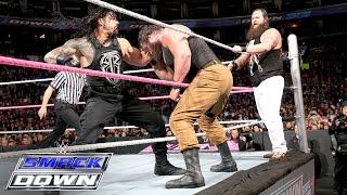 Roman Reigns & Randy Orton Vs Bray Wyatt & Braun Strowman SmackDown Oct 8 2015