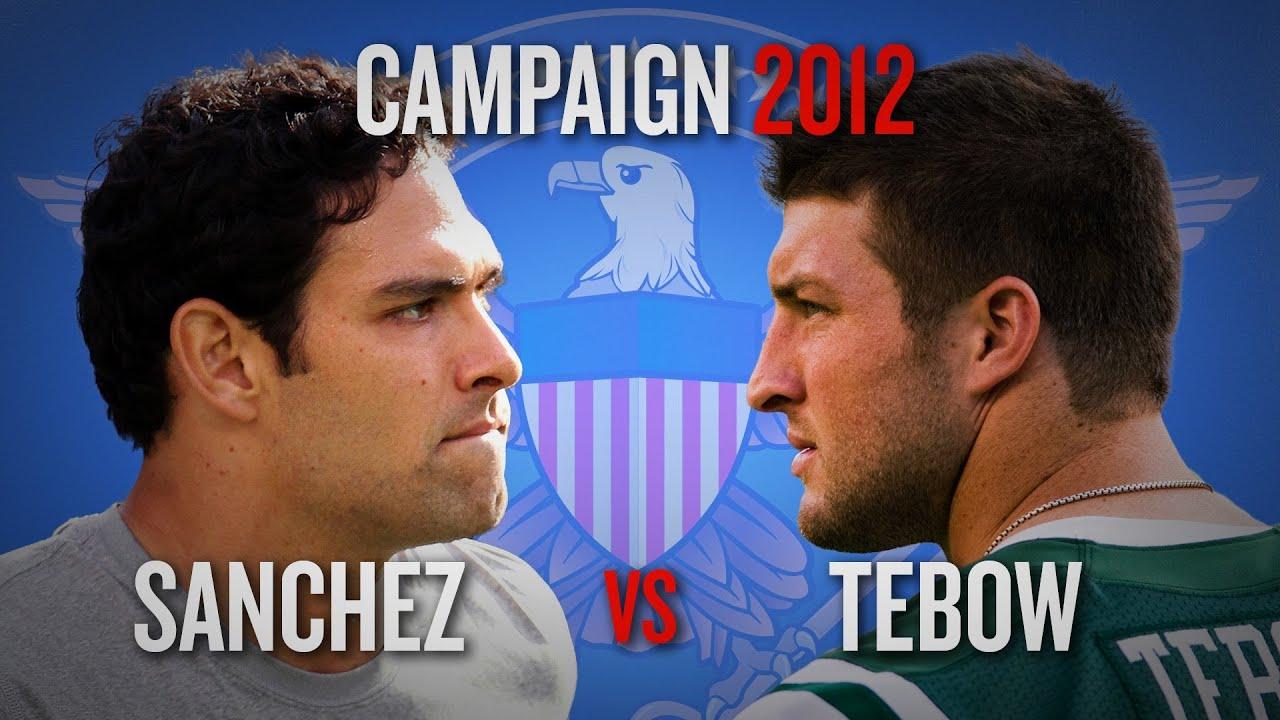 Campaign 2012: Tim Tebow vs. Mark Sanchez - Who is New York's Quarterback? thumbnail