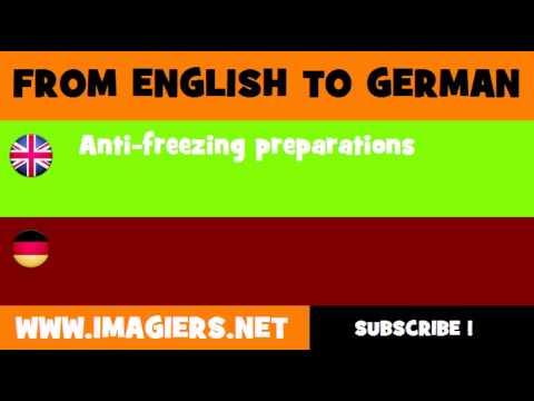 DEUTSCH   ENGLISCH  = Gefrierschutzmittel
