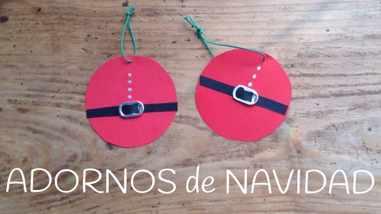 Adornos de navidad de PAPA NOEL |  Manualidades de navidad para niños