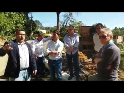 Prefeito Arizinho de São Lourenço da Serra e Vereadores falam sobre a obra Provisória na Rua Antonio Despézio
