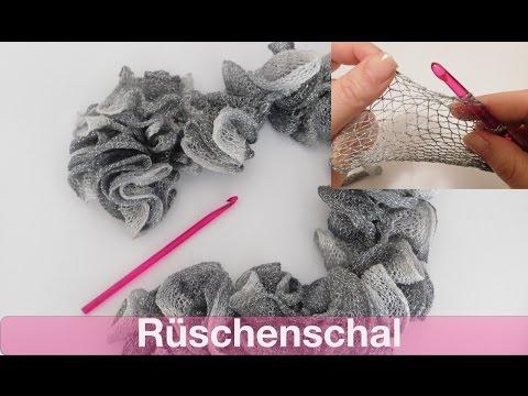 Glitzer Rüschenschal häkeln | SCHNELL und EINFACH