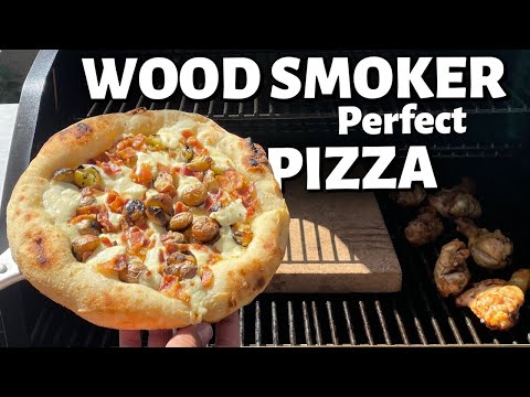 Perfect Neapolitan Pizza Cooked in a Wood Smoker