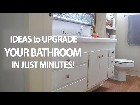 Even if you're renting, you can upgrade your bathroom with these quick & easy DIY ideas