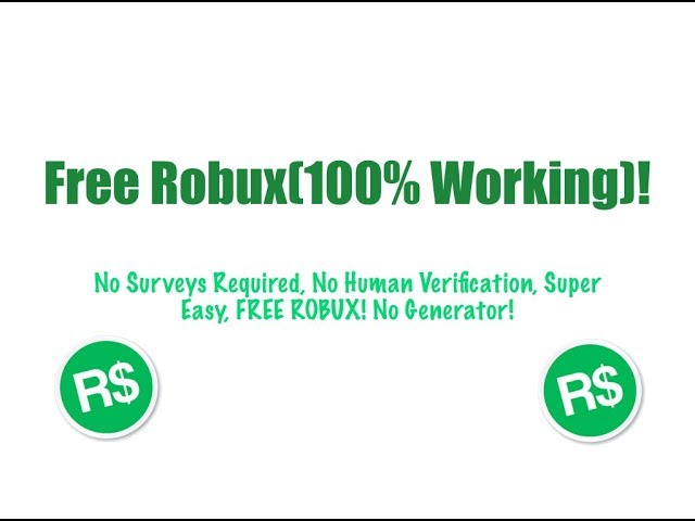 How To Get Free Robux 100 Working Secret Method No Verification