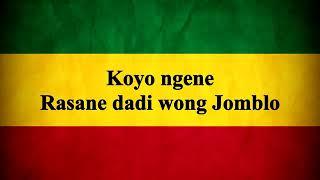 Koyok Ngene Rasane Dadi Wong Jomblo. (Versi Regge)