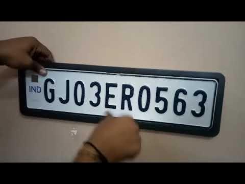 Car Number Plate Frame