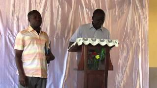 preview picture of video 'John Gura from Kenya, preaching at GIOP Church, Kalangala'