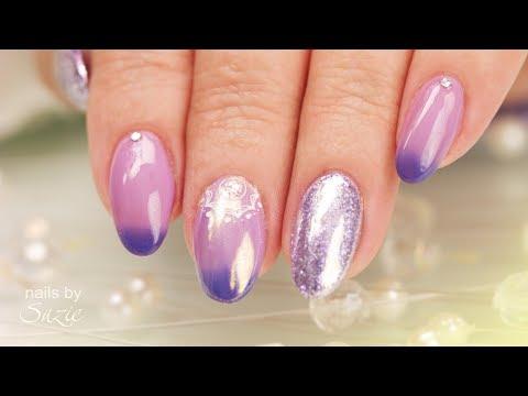 Mauve/Lilac Ombré Nails