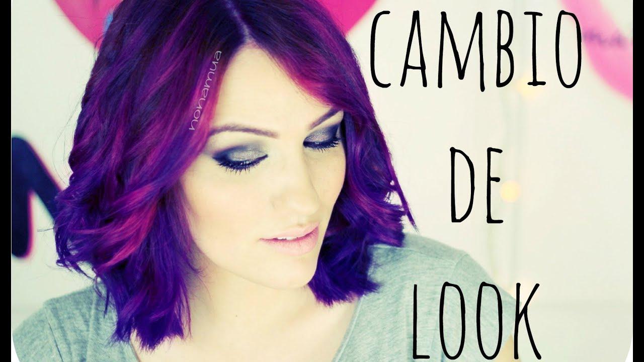 Mi cambio de look (Nuevo video) Pelo rosa y morado / Pink & Purple Hair