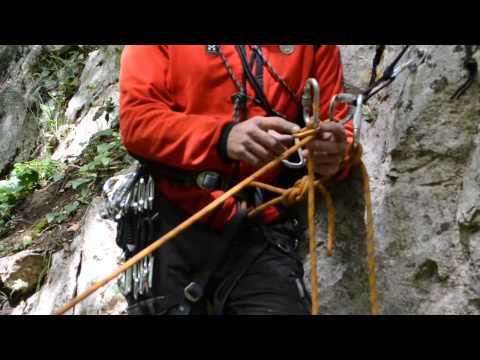 Uso della piastrina GiGi nel recupero con corda singola