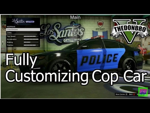 (GTA 5 ) How To Customize A Cop Car Glitch (XBOX 360,ONE PS4 AND PS3 AND PC