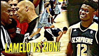 LaMelo Ball vs Zion Williamson WAS INSANE!!! Melo BREAKING Ankles & Zion BEASTING! INSANE CROWD!